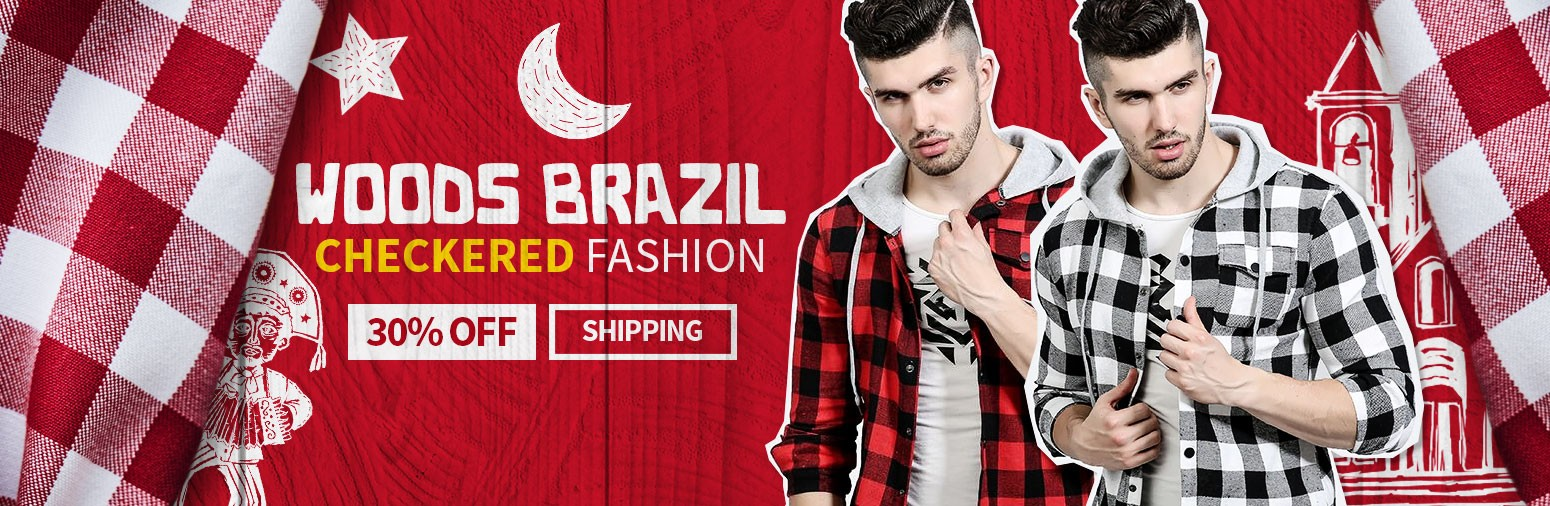 Chequered Shirts from Brazil buy online Calitta