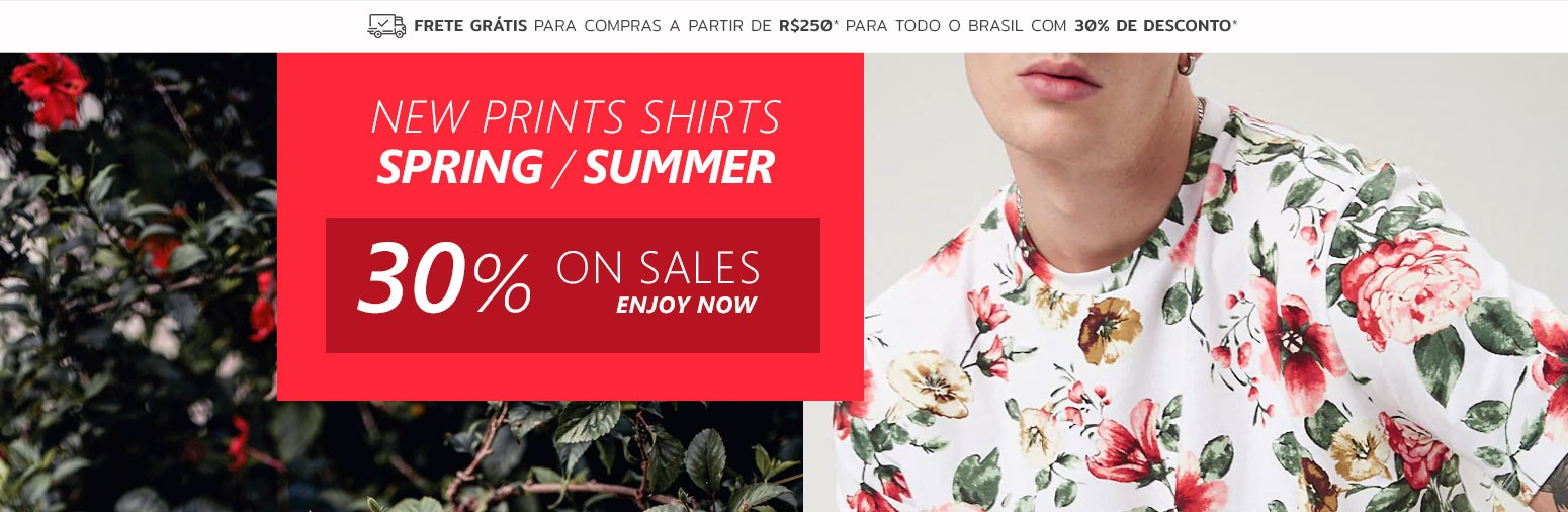 New Collection Spring Men's Floral Shirts Calitta