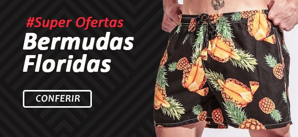 Black Friday 2019 Calitta Super Ofertas em Moda Bermudas e Shorts Florais