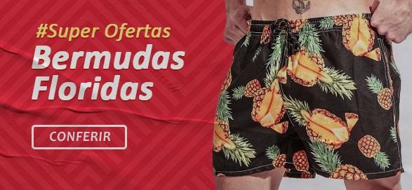 Bermudas e Shorts Masculinos Florais Moda Verão Calitta